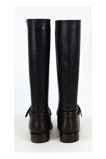 Mulberry Brown Leather Riding Black Boots Image 3