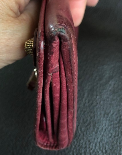 Balenciaga BALENCIAGA Lether Bifold Long Wallet Burgundy Image 9