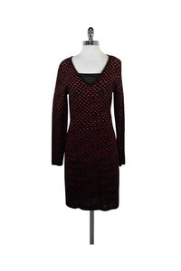Missoni short dress Red M Orange Black Dotted Knit on Tradesy
