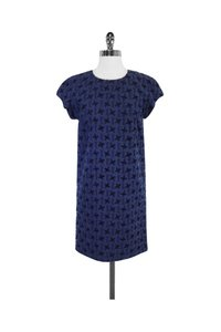 Bally short dress blue Black Textured Cotton on Tradesy