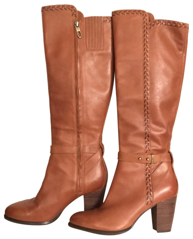 87fbcdb3ddb UGG Australia Brown Tan Leather Claudine Tall Knee-high Stitched Cognac  Boots/Booties Size US 8 Regular (M, B) 62% off retail