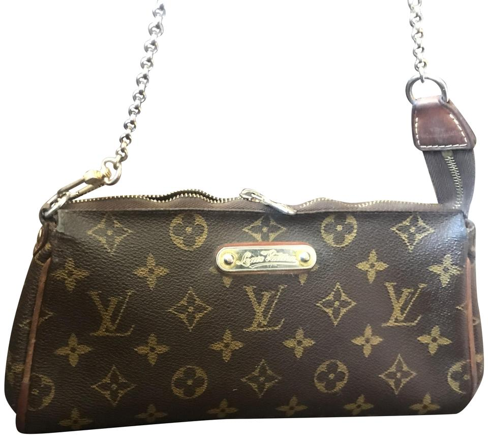 1f03b899f4649 Louis Vuitton Eva Monogram Brown Coated Canvas Clutch - Tradesy