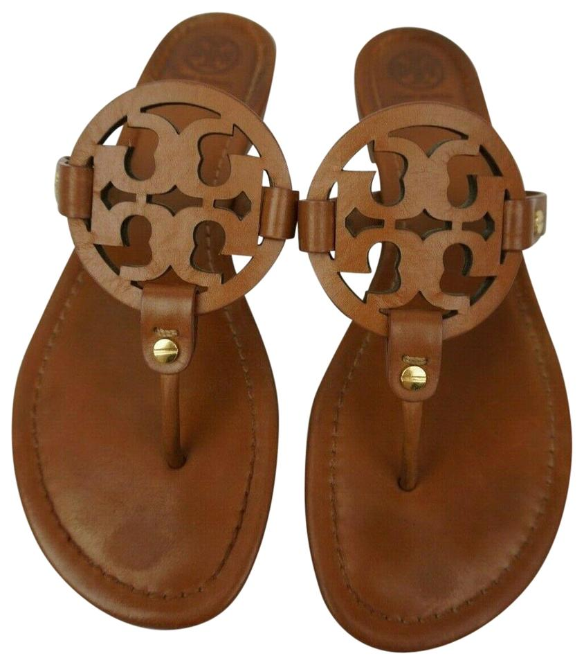 3fa360111 Tory Burch Brown Miller Flip Flops Vintage Vachetta Leather Sandals. Size   US 9 ...