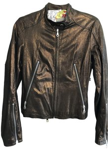 Kenna-T Copper Leather Jacket