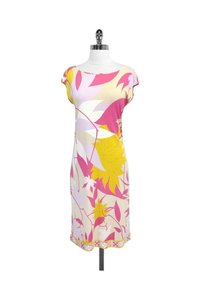 Emilio Pucci short dress Pink Yellow Floral on Tradesy