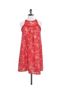Christopher Deane short dress Red Floral Print Lace on Tradesy