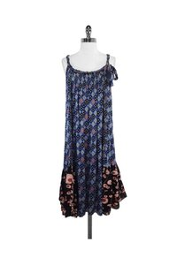 Twinkle by Wenlan short dress blue Black Mixed Print Silk on Tradesy