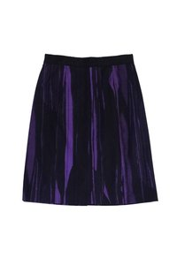 Vera Wang Lavender Black Cotton Blend Pencil Skirt Purple