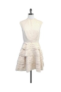 Camilla and Marc Ivory Red Polka Dot Tiered Dress Top Cream