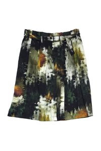 Pauw Black Print Skirt Green