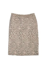 Peter Som Abstract Leopard Print Cotton Blend Pencil Skirt