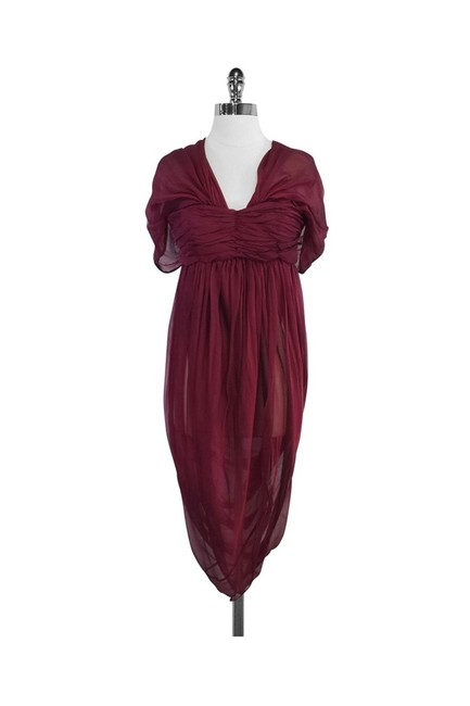 Alexander McQueen Red Short Casual Dress Size 4 (S) Alexander McQueen Red Short Casual Dress Size 4 (S) Image 1