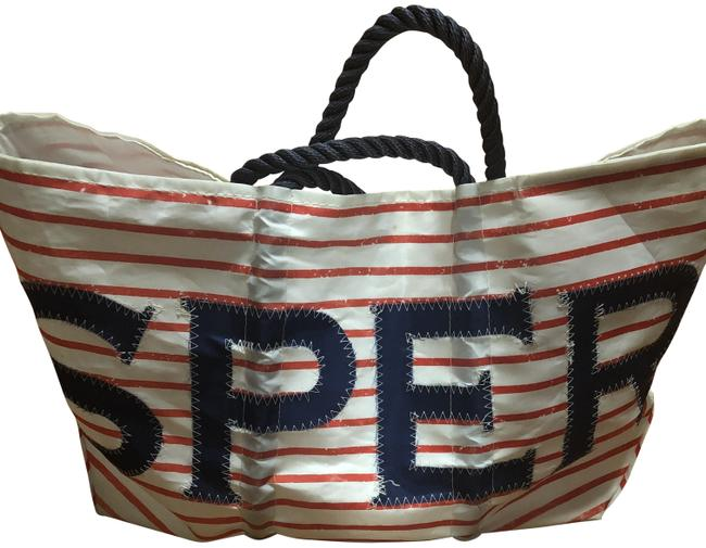 Item - Red White and Blue Canvas Beach Bag