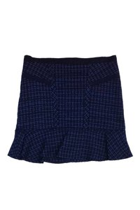Marc by Marc Jacobs Tweed Flared Skirt Blue