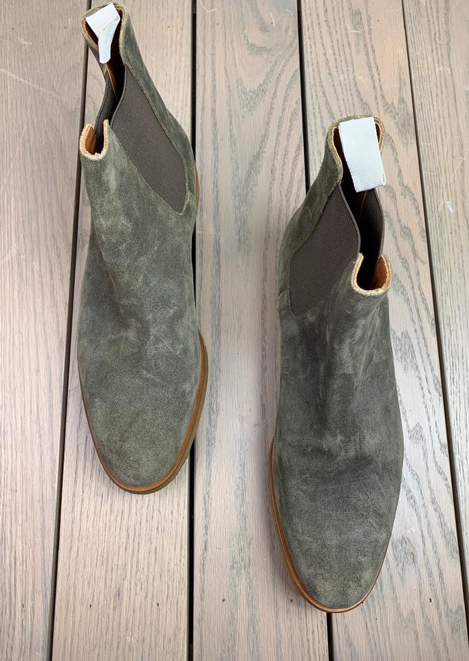 Common Projects Chelsea Waxed Olive Suede (Mens 43it10us) BootsBooties Size US 10 Regular (M, B)