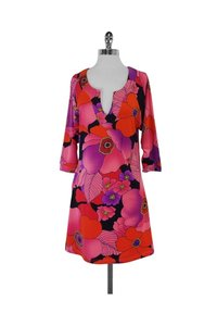 Tracy Negoshian short dress Pink Floral Long Sleeves on Tradesy