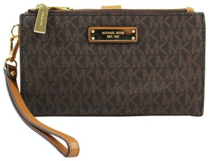 3c0ad36a35ee Added to Shopping Bag. Michael Kors Signature Adele Double Zip iPhone 7  Plus Wristlet