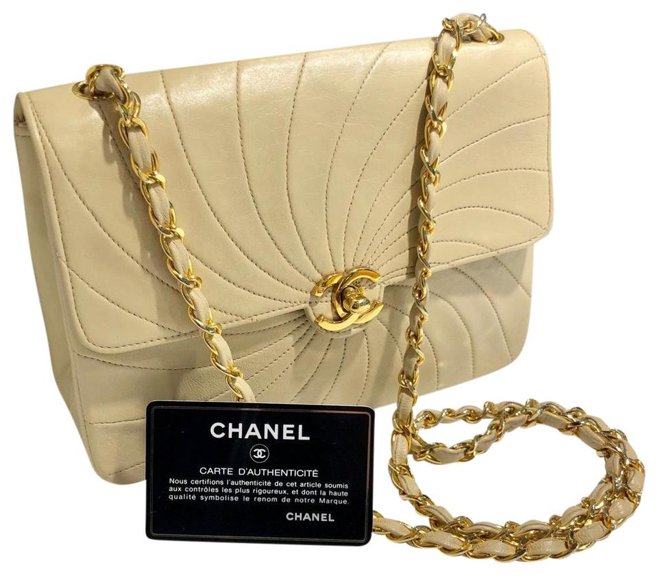 7cf9b74315ac Chanel Classic Flap Vintage Small Square Spiral Quilted Lambskin ...