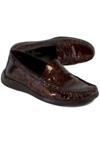Cole Haan Tortoiseshell Patent Leather Loafers Red Pumps