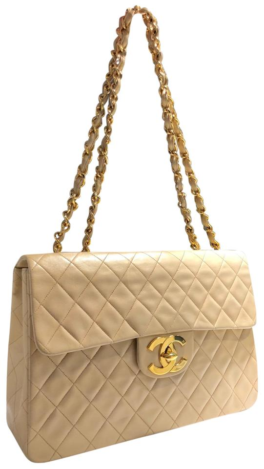 9b710fcd8b2 Chanel Classic Flap Vintage Single Maxi Large Square Quilted ...