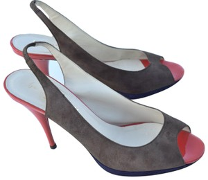 Bettye Muller dark gray, red orange Pumps