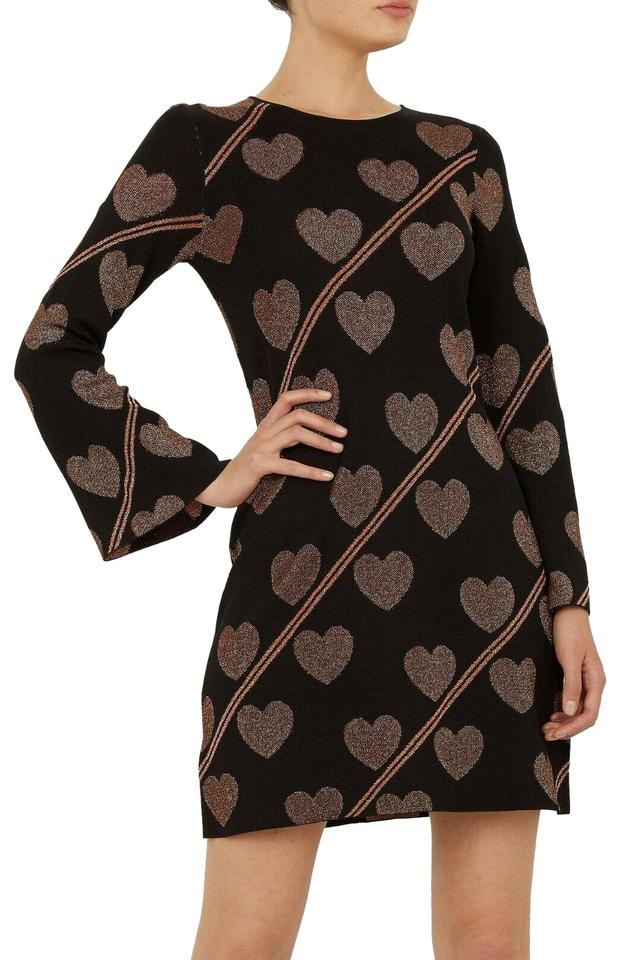 75ca00d9e Ted Baker Black Uzeniaa Joyous Heart Sweater Formal Dress Size 4 (S ...