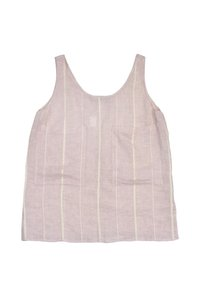 Stella McCartney Ivory Striped Linen Top Pink
