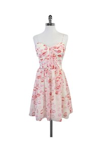 Erin Fetherston short dress Pink White Red Lip on Tradesy