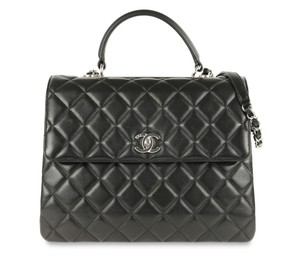 Chanel Card Store Tag Satchel in Black