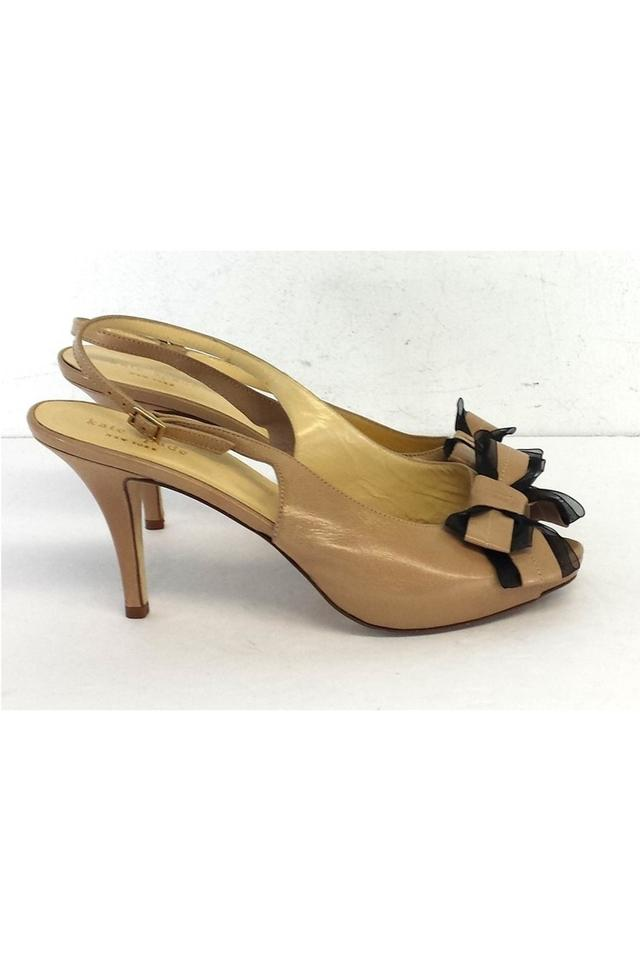 8839eb2ba41 Kate Spade Tulle Leather Bow Heels Tan Pumps Image 3. 1234