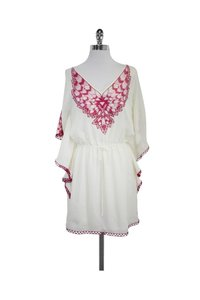 Faith Connexion short dress Cream Pink Embroidered on Tradesy
