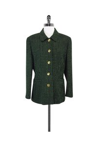 Escada Tweed Green Jacket