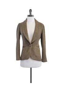 Ralph Lauren Brown Knit Tan Jacket