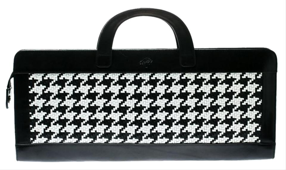 87d47be3658 Mulberry Black/White Woven Black Leather Tote - Tradesy