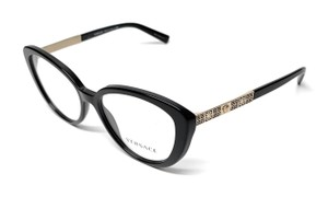 46887379f498 Versace NEW VE 3229 GB1 BLACK   GOLD WOMEN S AUTHENTIC FRAME ...