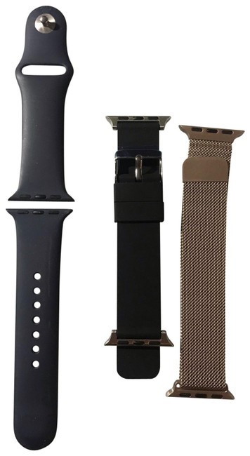 Item - Black Navy and Gold Watch Bands 38 Mm Charger Tech Accessory
