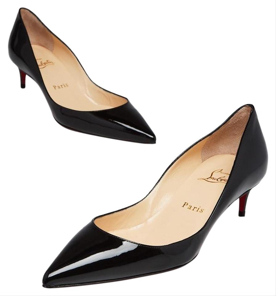 more photos 1ca9c 3dbc8 Christian Louboutin Black Patent Leather Rocket 45 Pumps Size EU 37  (Approx. US 7) Regular (M, B) 33% off retail