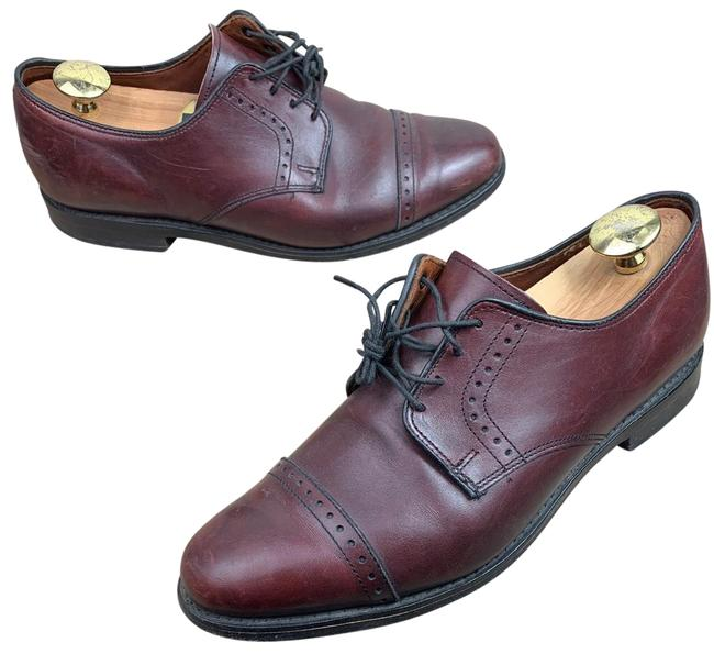 Item - Mens Clifton Burgundy Burnish Leather Blucher Eee Formal Shoes Size US 8 Extra Wide (Ww, Ee)