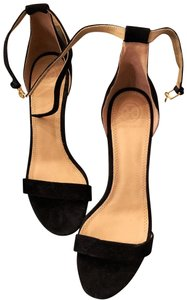 Tory Burch Suede Ankle Strap Black Formal