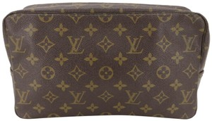 Louis Vuitton Cosmetic Make Up Pouch Pochette Brown Clutch