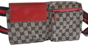 a3a4af19b721 Gucci Fanny Pack/Waist Pouch Red Canvas Weekend/Travel Bag - Tradesy