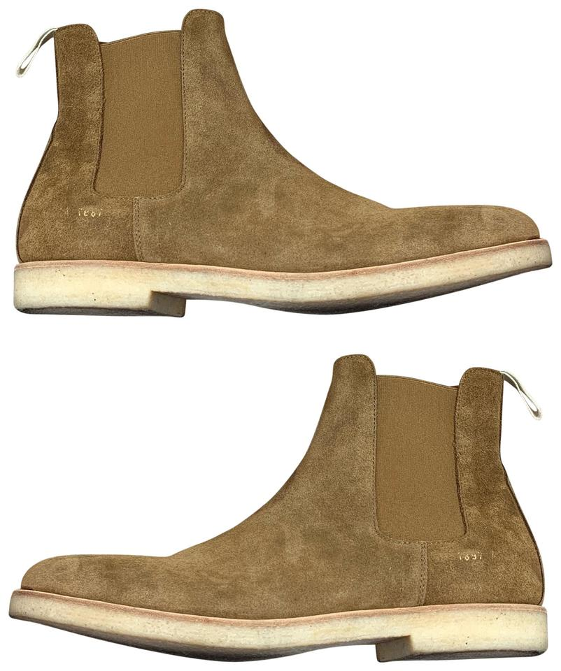 1832d43b142 Common Projects Chelsea Waxed Tan Brown Suede (Mens 43it/10us)  Boots/Booties Size US 10 Regular (M, B)