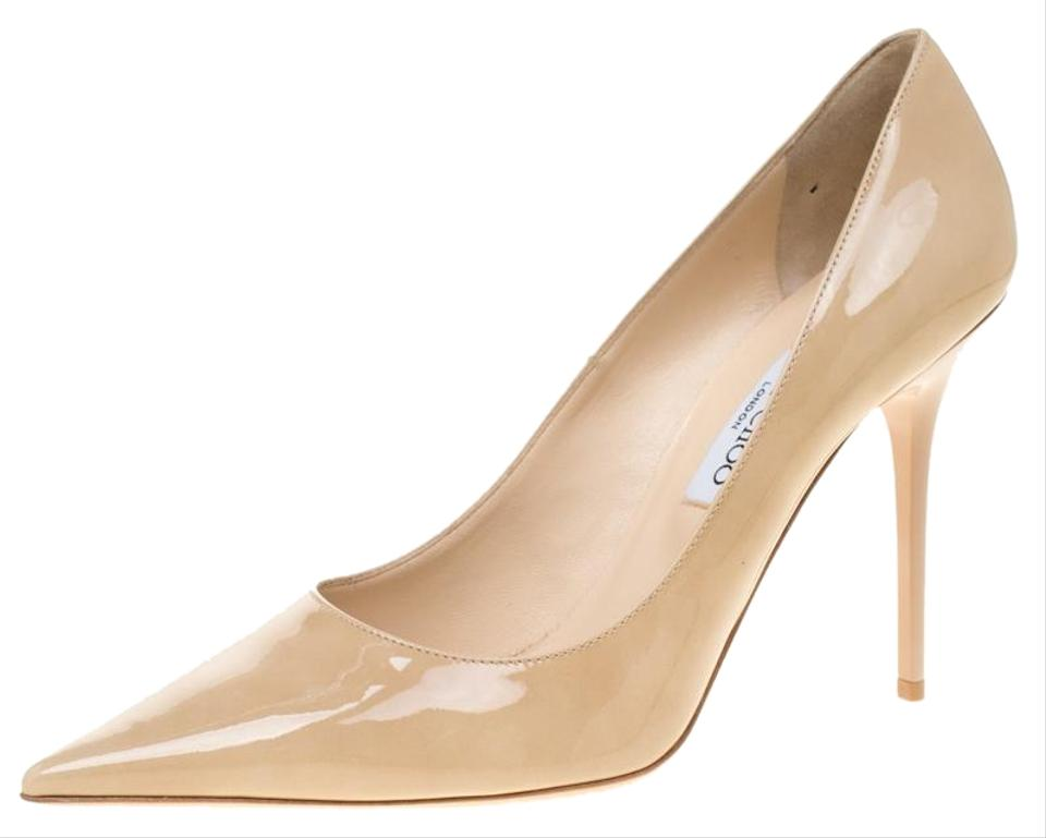b600b3608c8 Jimmy Choo Beige Patent Leather Abel Pointed Pumps Size EU 40.5 ...