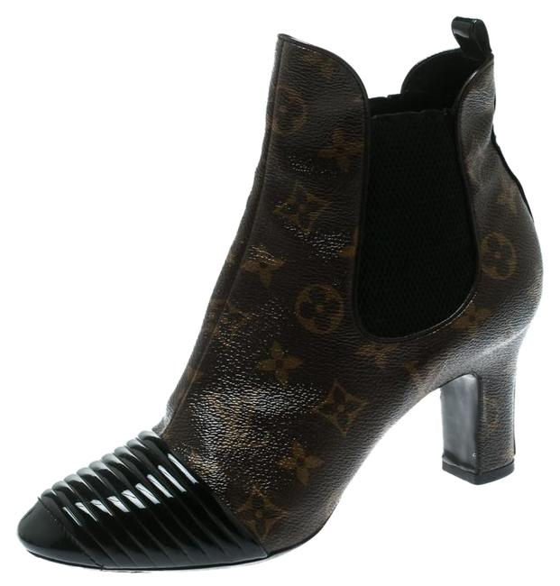 Item - Brown Monogram Canvas with Leather Cap Toe Ankle Boots/Booties Size EU 40 (Approx. US 10) Regular (M, B)