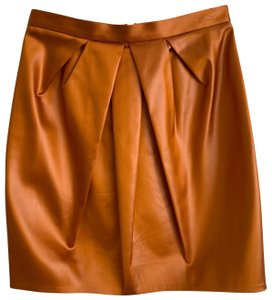 Moschino Mini Skirt copper orange rust