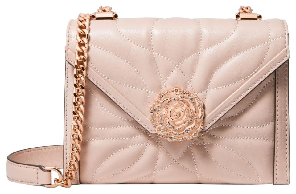 dcfbb81520a4d0 Michael Kors Whitney Small Petal Quilted Convertible Soft Pink ...
