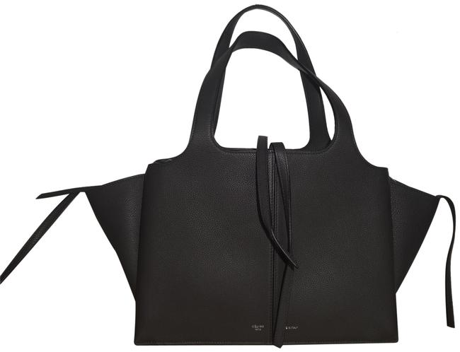 Item - Medium Trifold Excellent Condition Gray Leather Tote