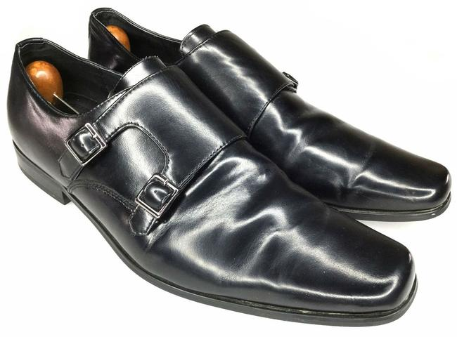Item - Black Men's Double Monk Strap Dress Leather Mules/Slides Size US 12 Regular (M, B)