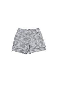 Adam Lippes Grey Tweed Dress Shorts Blue