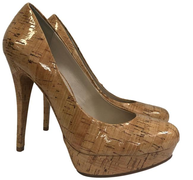 Item - Tan By Coated Cork Heels Platforms Size US 7 Regular (M, B)
